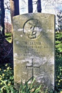 William Jasper's headstone in St. Paternus Churchyard