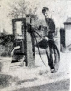 Boy at the South Petherwin Village Pump
