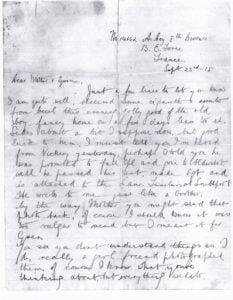 Horace Westlakes last letter part 1