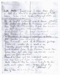 Horace Westlake's last letter part 2