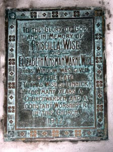 Memorial to Pricilla and Elizabeth Wise