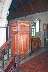 St. Paternus Church pulpit