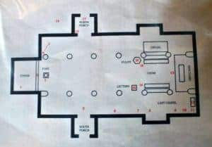 St. Paternus Church plan
