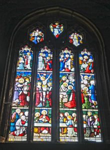 St. Paternus Church sanctuary stained glass window
