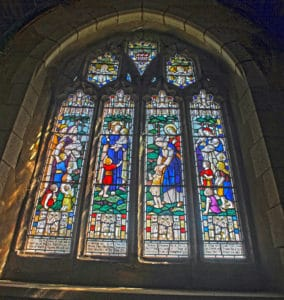 St. Paternus Lady Chapel stained glass window.
